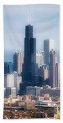 Chicago Looking East 02 Beach Towel