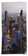 Chicago Loop Sundown Bw Color Blend Beach Towel
