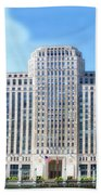 Chicago Merchandise Mart South Facade Beach Towel