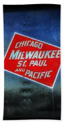 Chicago Milwaukee St. Paul And Pacific Beach Towel