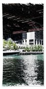 Chicago Parked On The River In June 03 Pa 01 Beach Towel