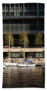 Chicago River Boats Beach Towel
