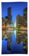 Chicago River East Beach Towel
