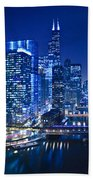 Chicago River Panorama Beach Towel