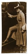 Chicago Suffragette Marching Costume Beach Towel by Padre Art
