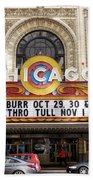 Chicago Theater Marquee Jethro Tull Signage Beach Towel