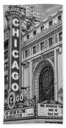 Chicago Theatre Bw Beach Towel