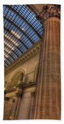 Chicago Union Station Column Beach Towel