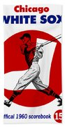 Chicago White Sox 1960 Scorebook Beach Towel
