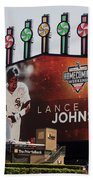 Chicago White Sox Lance Johnson Scoreboard Beach Towel