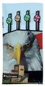 Chicago White Sox Usa Eagle Scoreboard Beach Towel