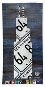 Chicago Windy City Harris Sears Tower License Plate Art Beach Towel