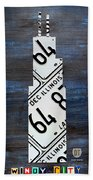 Chicago Windy City Harris Sears Tower License Plate Art Beach Towel by Design Turnpike