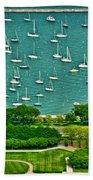 Chicago's Dusable Harbor  Beach Towel