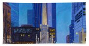 Chicago's Water Tower At Dusk Beach Towel