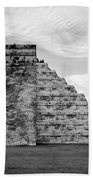 Chichen Itza B-w Beach Towel
