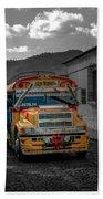 Chicken Bus - Antigua Guatemala Beach Towel