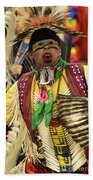 Pow Wow Chicken Dancer Beach Towel