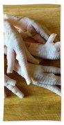 Chicken Feet Without Toenails Beach Towel