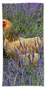 Chicken In The Lavender Beach Towel
