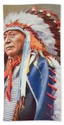 Chief Hollow Horn Bear Beach Towel