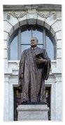 Chief Justice Edward Douglas White Statue- Nola Beach Towel