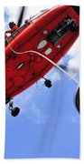 Chief Petty Officer Looks Out The Door Beach Towel by Stocktrek Images