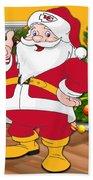 Chiefs Santa Claus Beach Towel