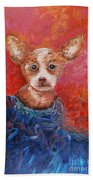 Chihuahua Blues Beach Towel