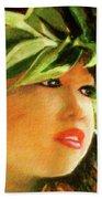 Child Keiki In Hawaiian No# 84 Beach Towel