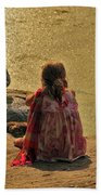 Children At The Pond 4 Beach Towel