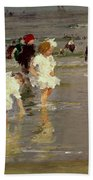 Children On The Beach Beach Towel by Edward Henry Potthast