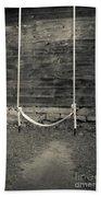 Child's Swing On An Old Farm Beach Sheet