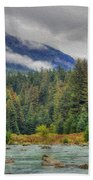 Chillkoot River Hdr Paint Beach Towel