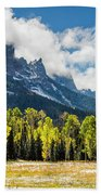 Chimney Rock Autumn Beach Towel