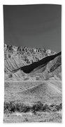 Chimney Rock In Black And White - Towaoc Colorado Beach Sheet