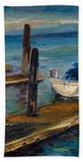 China Basin Docks Beach Towel