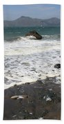 China Beach With Outgoing Wave Beach Towel