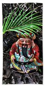 China Boat Gnome Beach Towel