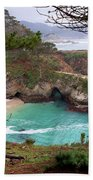China Cove At Point Lobos Beach Towel by Charlene Mitchell