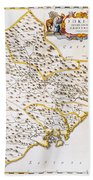 China: Fujian Map, 1662 Beach Towel