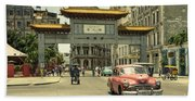 Chinatown Chevy  Beach Towel