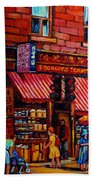 Chinatown Montreal Beach Towel