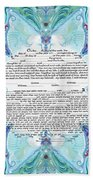 Chinease Ketubah- Reformed And Interfaithversion Beach Towel