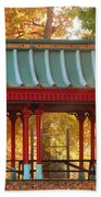 Chinese Pavillion In Tower Grove Park Beach Towel
