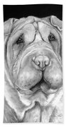 Chinese Sharpei Beach Towel