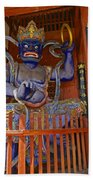 Chinese Temple Guardian Beach Towel