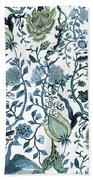 Chinoiserie Blue Beach Towel
