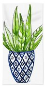 Chinoiserie Cactus No2 Beach Towel