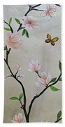Chinoiserie - Magnolias And Birds #3 Beach Sheet